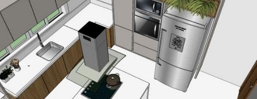 Imagem de projeto 3D de móvel planejado e móvel sob medida